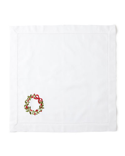 Wreath Dinner Napkins, Set of 4