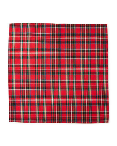Classic Red & Green Plaid Napkins, Set of 4