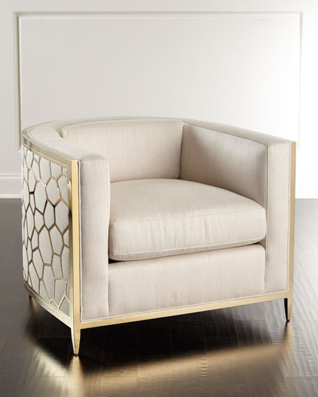 caracole Golden Curved Chair