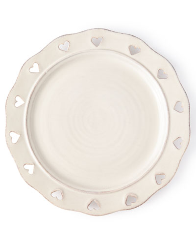 Caterina Heart Dinner Plates, Set of 4