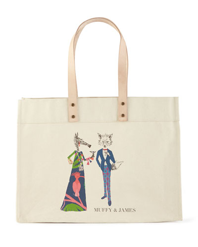 Muffy & James Extra-Large Personalized Tote
