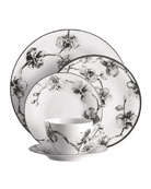 5-Piece Black Orchid Dinnerware Place Setting