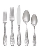 "5-Piece ""Cast Iron"" Flatware Place Setting"