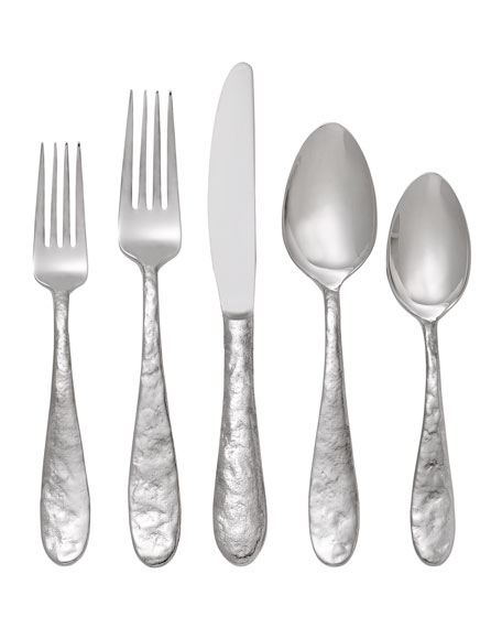 "Michael Aram 5-Piece ""Cast Iron"" Flatware Place Setting"