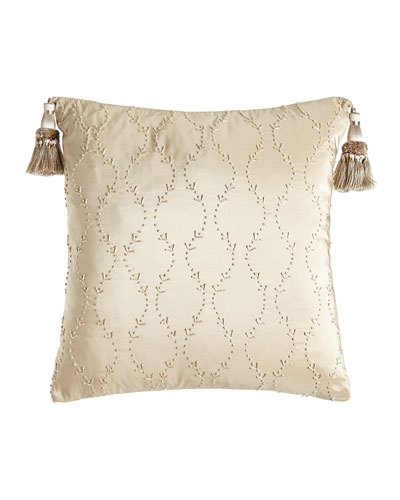 Camelot Knotted Silk Pillow, 17