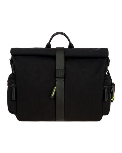 Moleskine by Bric's Roll-Top Messenger Bag