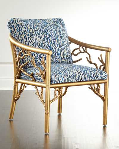 Wood Frame Accent Chair | Neiman Marcus