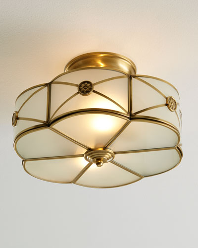 Preston 2-Light Semi-Flush-Mount Ceiling Fixture