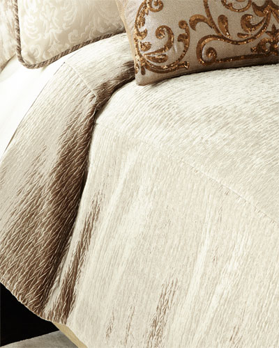 Silver Polyester Duvet Cover Neiman Marcus