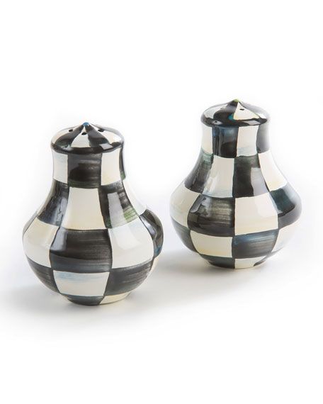 MacKenzie-Childs Courtly Check Enamel Salt & Pepper Shakers