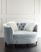 Haute House Harper Tufted Cuddle Chair