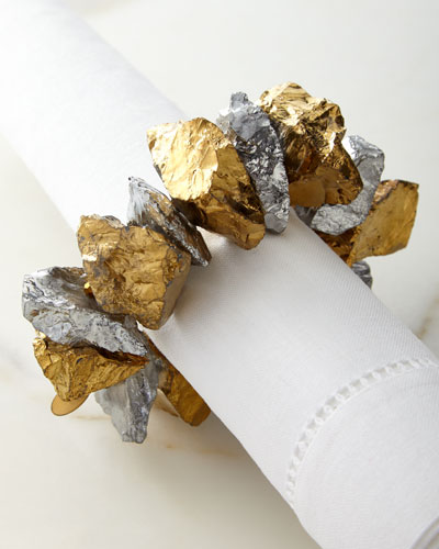 Crystal Nuggets Napkin Ring
