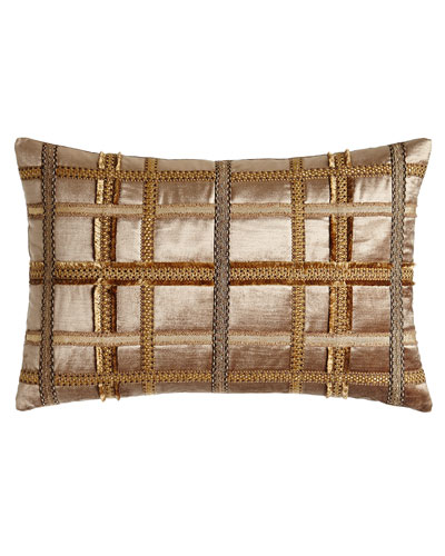 Kamala Gimp-Plaid Pillow, 15