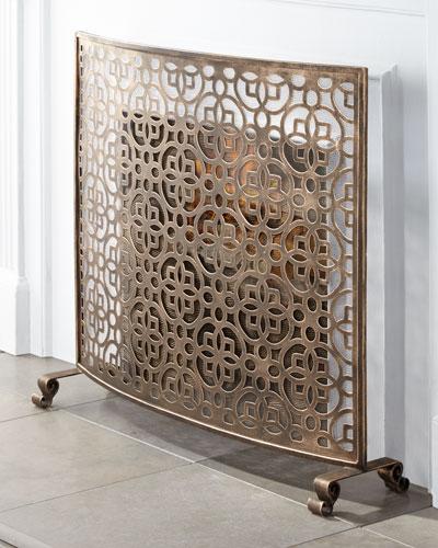 Geometric Fireplace Screen