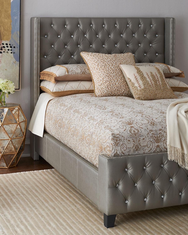 Mercedez Jeweled Queen Bed