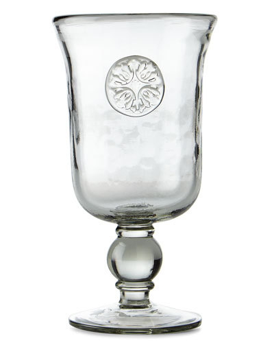 Medallion Water Goblets, Set of 4