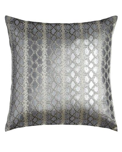 Anaconda Silver Pillow