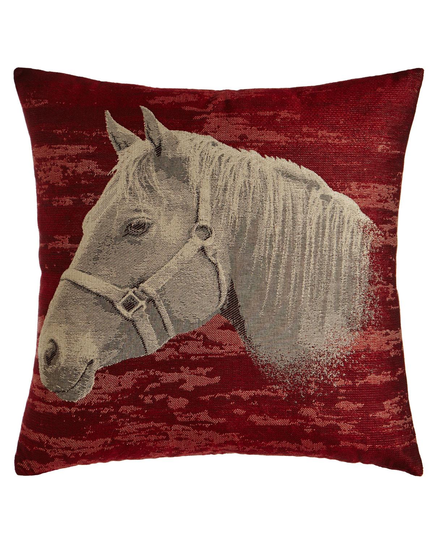 Equestrian Red Horse-Head Pillow