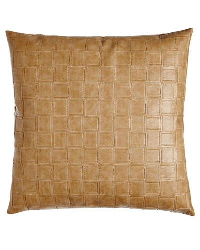 Equestrian Tan Embossed Pillow