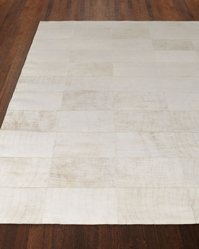 Dooley Ivory Leather Rug, 9'6