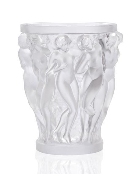 Lalique Bacchantes Small Clear Vase