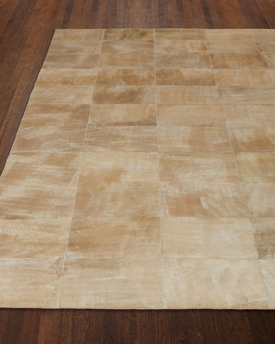 Dooley Beige Leather Rug, 11'6