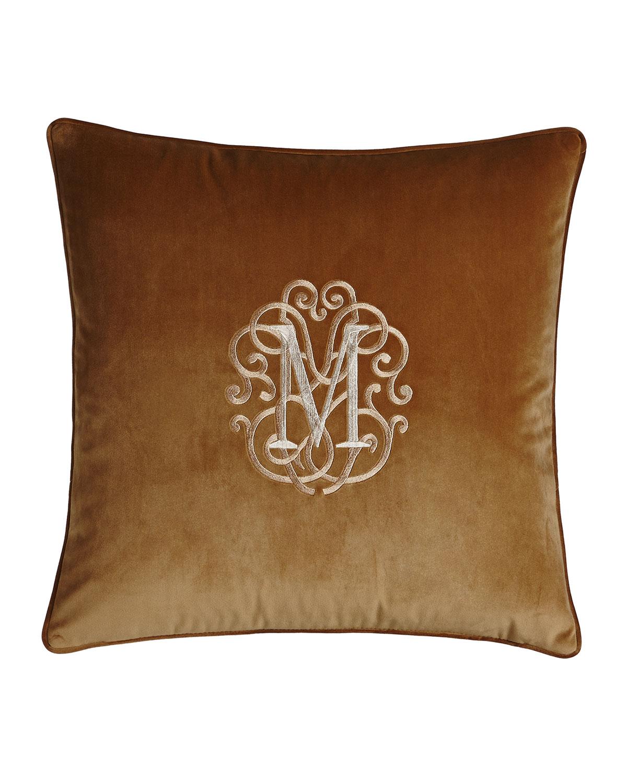 Liberty Velvet Pillow, Monogrammed