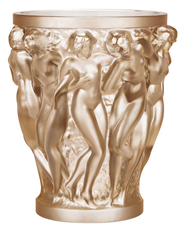 Lalique Clothing BACCHANTES GOLD LUSTER VASE