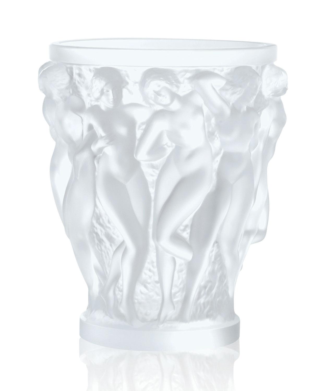 Lalique Home decors BACCHANTES CLEAR VASE