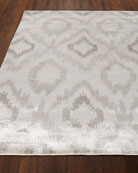 Mesa Hand-Knotted Silver Rug, 12' x 15'
