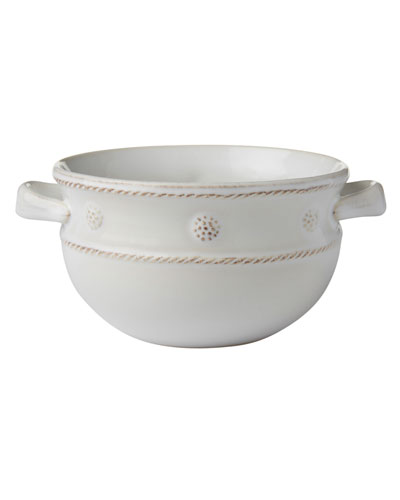 Berry & Thread Handled Soup Bowl