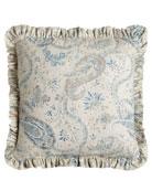 """Ruffled Namaste Pillow, 18""""Sq."""