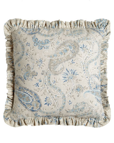 Ruffled Namaste Pillow, 18