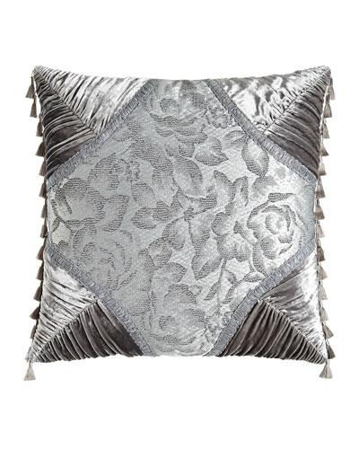 Platinum Posey Pieced Pillow, 20