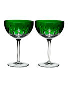 Lismore Pops Emerald Cocktail Glasses, Set of 2