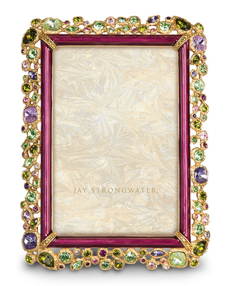 """Jay Strongwater Bejeweled 4"""" x 6"""" Picture Frame"""