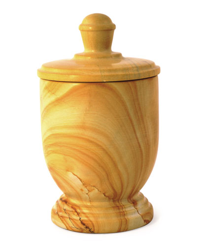 Teak Marble Canister