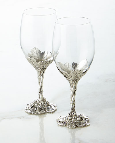 Grape Wine Glasses, Set of 2
