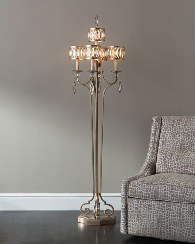 John - richard Collection Marquise Crystal Floor Lamp