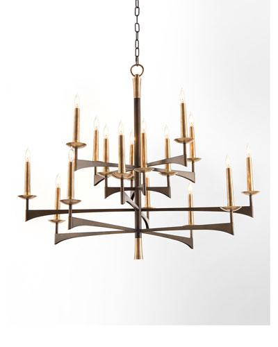 Mid-Century 16-Light Chandelier