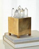 Clear Quartz & Brass Box with Light