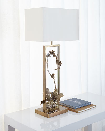 Blooming Pierced Orchid Table Lamp