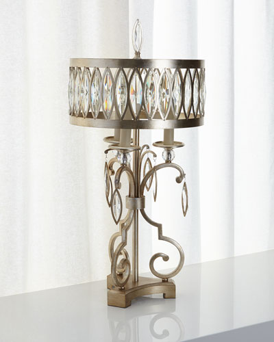 Marquise Crystal Table Lamp