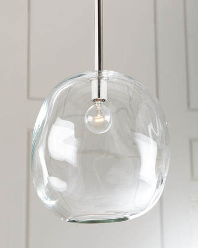 Molten Large 1-Light Clear Pendant