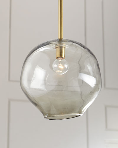 Molten Large 1-Light Smoke Pendant