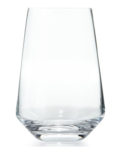 Pure Stemless White Wine Glasses, Set of 6