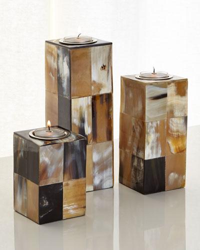 Caramel & Cream Candleholders, 3-Piece Set