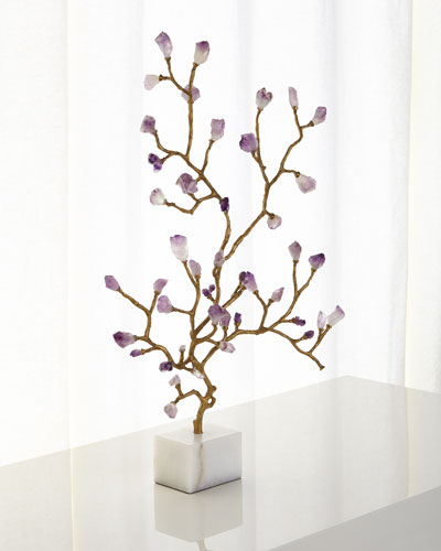 Amethyst Branch Sculpture