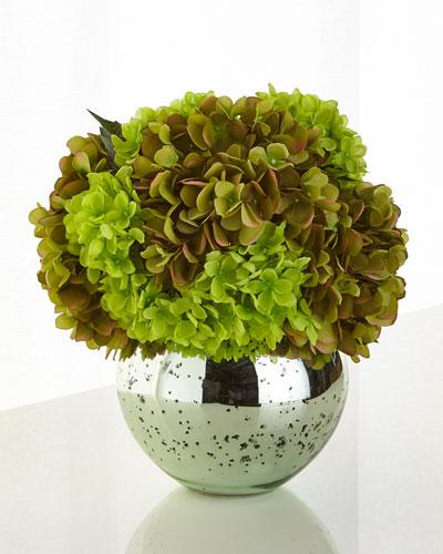 Gorgeous Greens Faux-Floral Arrangement