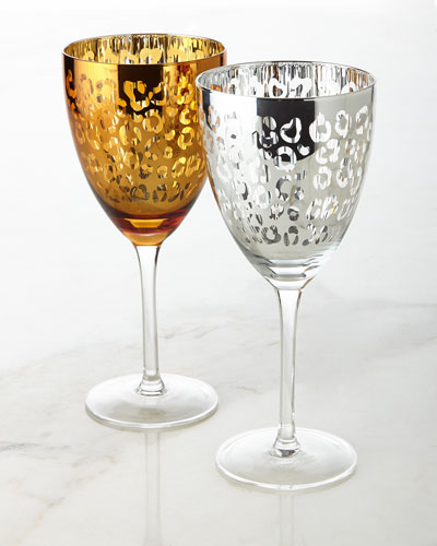 Leopard Wine Glasses, Set of 4